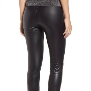 BLANKNYC Faux Leather Stirrup Leggings 26